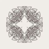 Vector mandala. Gothic lace tattoo. Celtic weave with sharp corners. Royalty Free Stock Photos