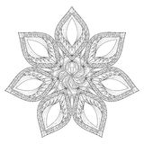 Vector Mandala. Hand drawn zentangle mandala illustration, Artis Stock Images