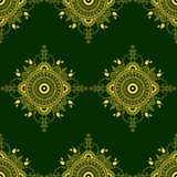 Vector mandala illustration for fabrics, notebooks, cards. Seaml. Ess pattern Royalty Free Stock Images