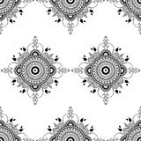 Vector mandala illustration for fabrics, notebooks, cards. Seamless pattern Stock Photo