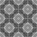 Vector mandala illustration for fabrics, notebooks, cards. Seamless pattern Royalty Free Stock Photos