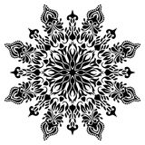 Black and white Mandala Illustration royalty free stock photos
