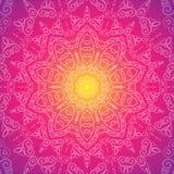 Vector mandala. Islam, Arabic, Indian, turkish, chinese motifs. Vector illustration of glow mandala. Vector background. Card or invitation. Vector mandala Royalty Free Stock Images