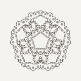 Vector mandala. Mehndi lace tattoo. Oriental weave. Stock Image