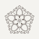 Vector mandala. Mehndi lace tattoo. Oriental weave. The circular pattern Royalty Free Stock Image