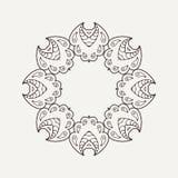 Vector mandala. Mehndi lace tattoo. Oriental weave. Stock Photo