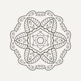 Vector mandala. Mehndi lace tattoo. Oriental weave. Stock Images