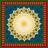 Vector mandala ornament. Round floral pattern. Arabic decorative element. Stock Photography
