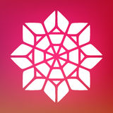 Vector Mandala Ornaments Logo Illustration decorativa Imágenes de archivo libres de regalías