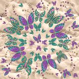 Vector mandala pattern with butterfly Royalty Free Stock Photos