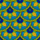 Vector Mandala Pattern floral inconsútil Imágenes de archivo libres de regalías