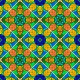 Vector Mandala Pattern floral inconsútil Foto de archivo