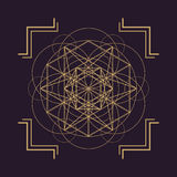 Vector mandala sacred geometry illustration Stock Photos