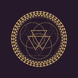 Vector mandala sacred geometry illustration Royalty Free Stock Photo