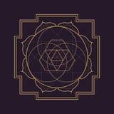 Vector mandala sacred geometry illustration Stock Images
