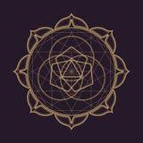 Vector mandala sacred geometry illustration Royalty Free Stock Image