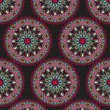 Vector Mandala seamless colored pattern, decorative ornament Stock Photo
