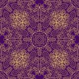 Vector mandala swirl seamless background Stock Images