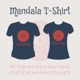 Vector Mandala T-Shirt Royalty Free Stock Photo