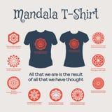 Vector Mandala T-Shirt Stock Image