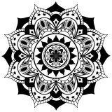 Vector mandala on a white background Royalty Free Stock Images