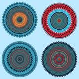 Vector mandalas. Colored mandala set. Oriental round ornament. asian design element Stock Images