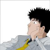 Vector Manga Man Royalty Free Stock Photos