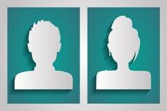 Vector mannelijke en vrouwelijke avatars Stock Afbeelding