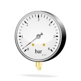 Vector manometer Royalty Free Stock Images