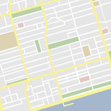 Vector Map. Vector illustration of a detailed map Stock Image