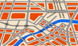 Vector map Royalty Free Stock Photography
