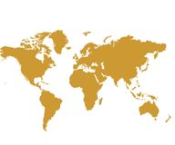 Vector map. Braun world map.All countries in the map of the world Royalty Free Stock Images