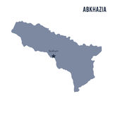 Vector map of Abkhazia isolated on white background. Royalty Free Stock Photography