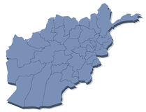 Vector map of Afghanistan Stock Image