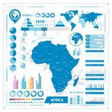 Vector map of Africa and infographic elements Stock Photography