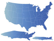 Vector map of america Stock Photo