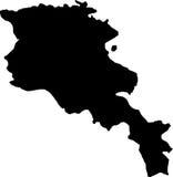 Vector map of armenia Stock Photography