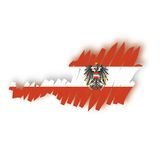 Vector map Austria Stock Photo
