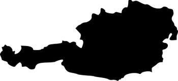 Vector map of austria. Black vector map of austria Stock Photo