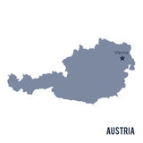 Vector map of Austria isolated on white background. Royalty Free Stock Image