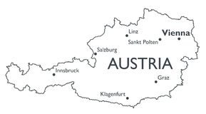 Vector map of Austria Royalty Free Stock Image