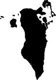 Vector map of bahrain. Black vector map of bahrain stock illustration