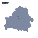 Vector map of Belarus isolated on white background. Stock Photos