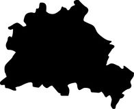 Vector map of berlin Royalty Free Stock Photography