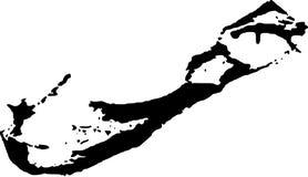 Vector map of bermuda royalty free illustration