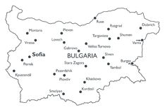 Vector map of Bulgaria Royalty Free Stock Photography