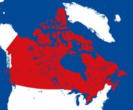 Vector map Canada Stock Photo