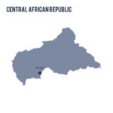 Vector map of Central African Republic isolated on white background. Stock Images