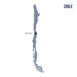 Vector map of Chile isolated on white background. Stock Images
