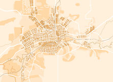 Vector Map of The City Royalty Free Stock Images